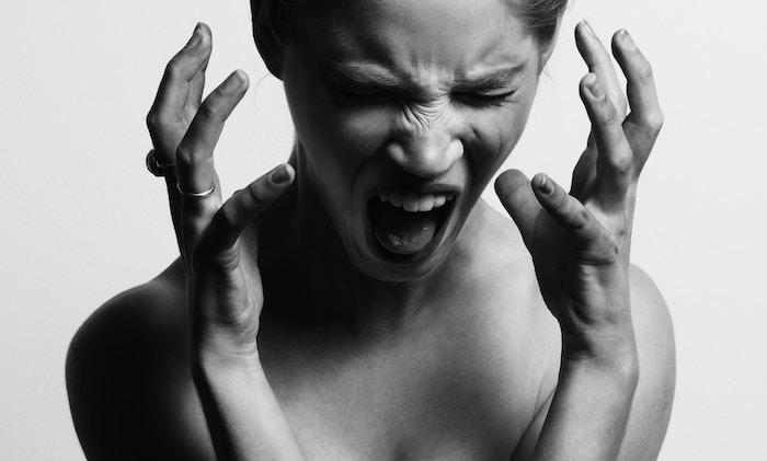 woman screaming pressure simple steps
