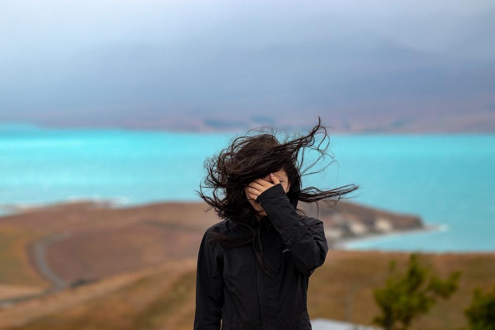 woman-against-blue-sea