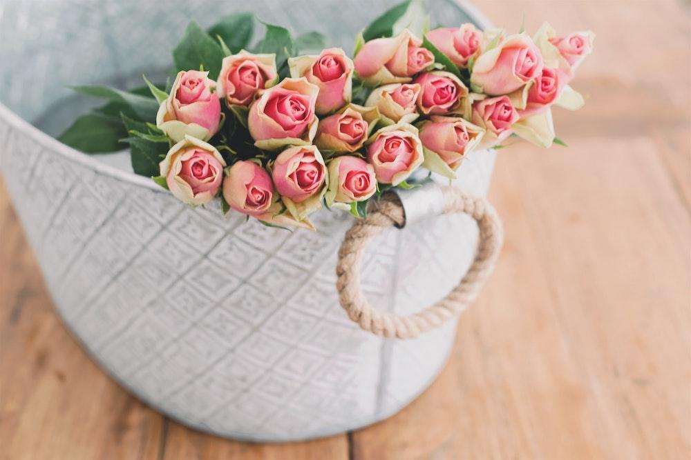 white-basket-flowers