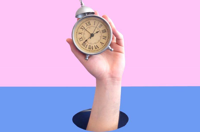 do you procrastinate pink clock